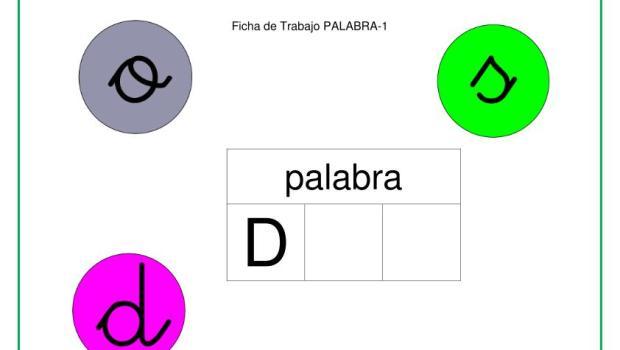 LECTOESCRITURA PRIMARIA BINGO LETRA D