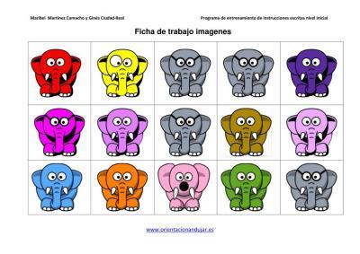 Resultado de imagen de instrucciones escritas los elefantes de colores