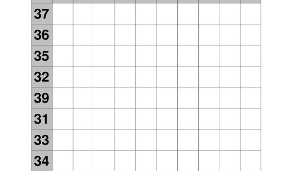 coleccion de ejercicios de tablas de sumas rango 31-40 IMAGEN 3