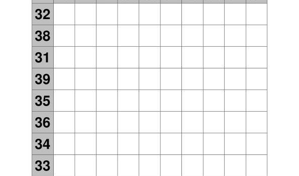 coleccion de ejercicios de tablas de sumas rango 31-40 IMAGEN