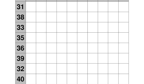 coleccion de ejercicios de tablas de sumas rango 31-40 IMAGEN 1