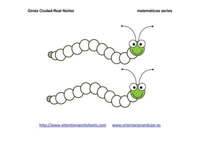 Orugas matemáticas series NUMÉRICAS PLANTILLA IMAGEN 2