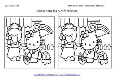 Dibujos Animados Encuentra Las Diferencias Y Colorea Para