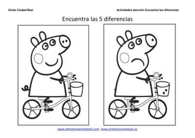 Dibujos Animados Encuentra Las Diferencias Y Colorea Para Ninos