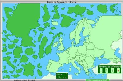 PAISES DE EUROPA PUZZLE