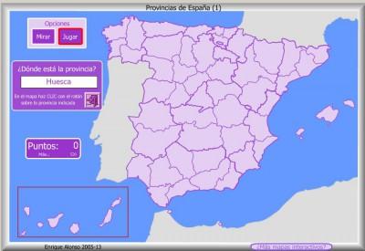 PROVINCIAS de España DONDE ESTA
