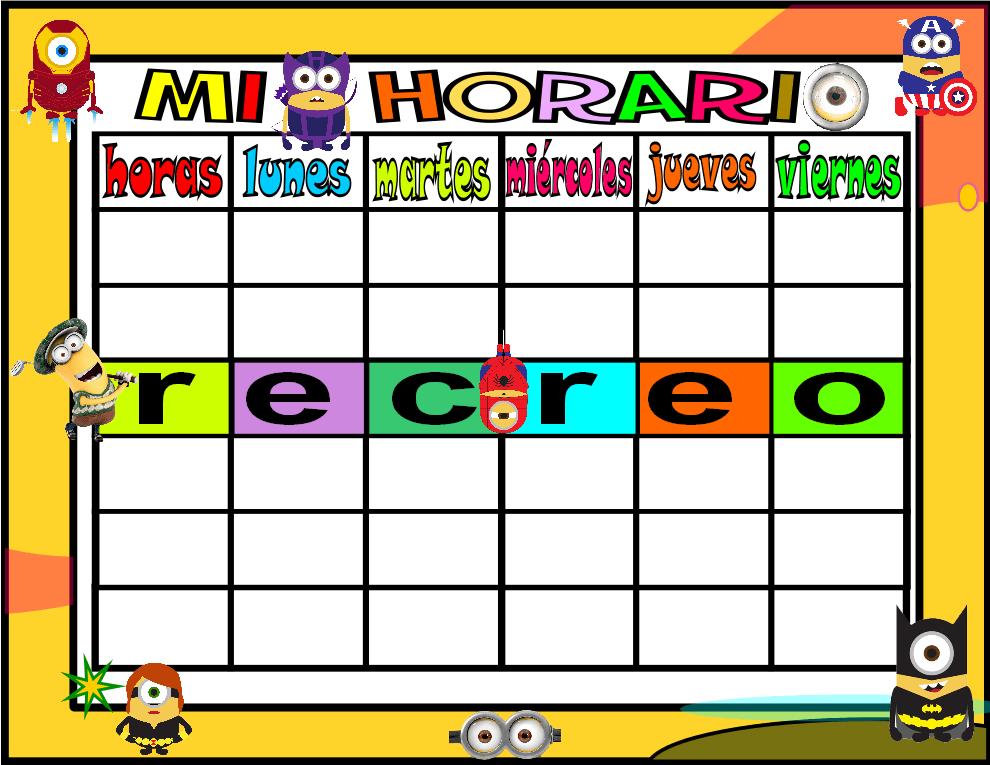 horario 5 HORAS-1 minions