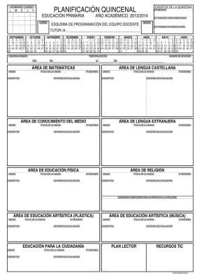 planificacion quincenal 2013-2014 Actualizada orientacion Andujar