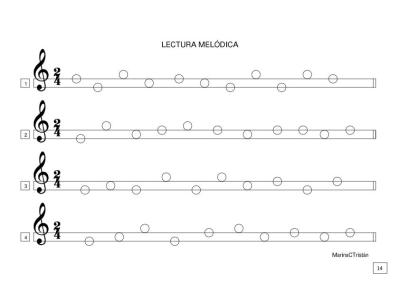 lenguaje musical lectura melodica