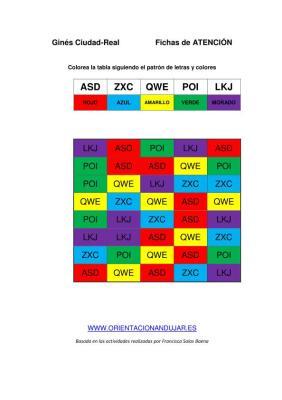 Identifica TRES letras y seguir una instrucción colorear PLANTILLA DE TRABAJO IMAGEN