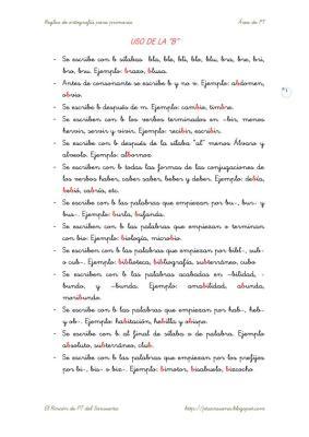 Cuadernillo de reglas de ortografía para Primaria -Orientacion Andujar