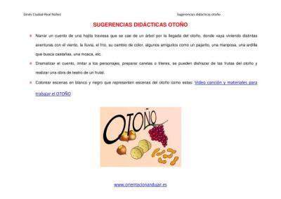SUGERENCIAS DIDACTICAS PARA EL OTOÑO ORIENTACIÓN ANDUJAR imagen 1