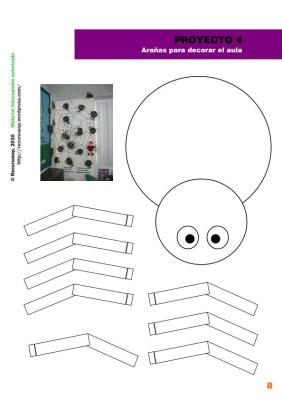 arañas de hallween para la clase