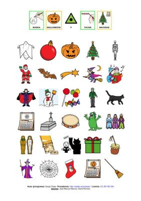 rodea vocabulario de halloween