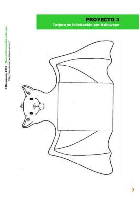 tarjeta de felicitacion de halloween imagen