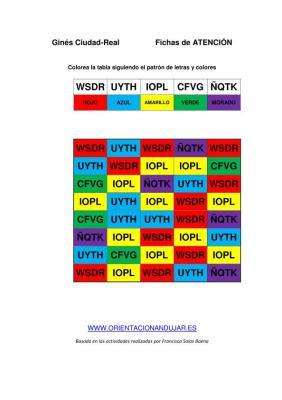 Identifica cuatro letras y seguir una instrucción colorear PLANTILLA DE TRABAJO IMAGEN