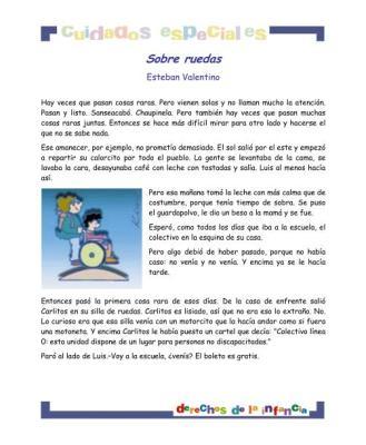 Sobre ruedas derechos para niños con cuidados_especiales imagen 1