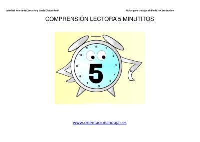 COMPRENSIÓN LECTORA 5 MINUTITOS IMAGEN 1