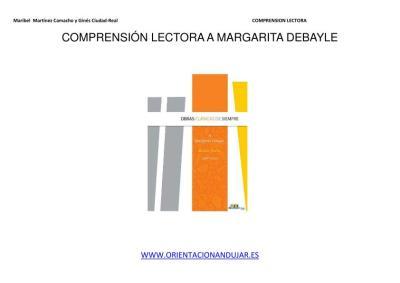 COMPRENSIÓN LECTORA A MARGARITA DEBAYLE IMAGEN 1