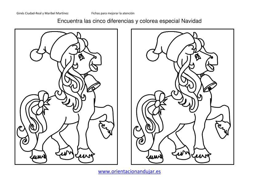 Encuentra Las Diferencias Y Colorea Especial Navidad 2013