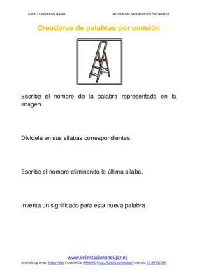 Ejercicios para niños con dislexia Omisión de sílabas imagenes_04