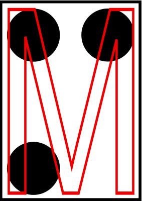 braille letra M