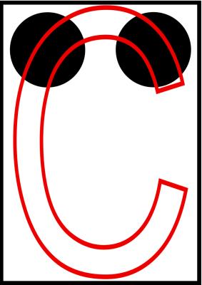 braille letra c