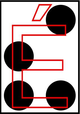 braille letra e acentuada
