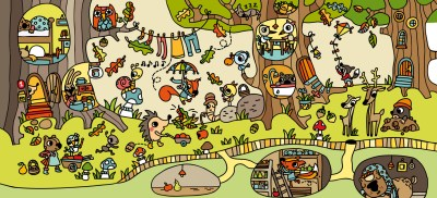 Colección de Láminas en color XL  para trabajar atención, percepción vocabulario OTOÑO