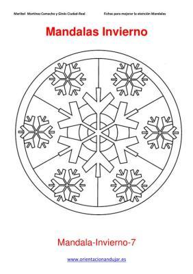 Mandalas para colorear en Invierno Orientacion andujar imagenes (7)