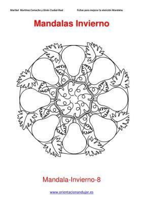Mandalas para colorear en Invierno Orientacion andujar imagenes (8)