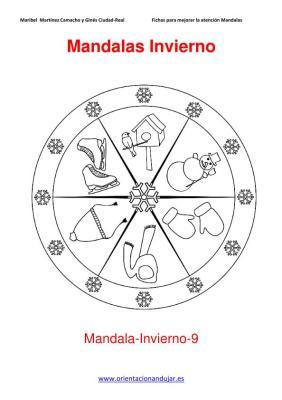 Mandalas para colorear en Invierno Orientacion andujar imagenes (9)