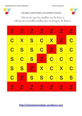 colorea las letras segun las instrucciones SOLUCION-2