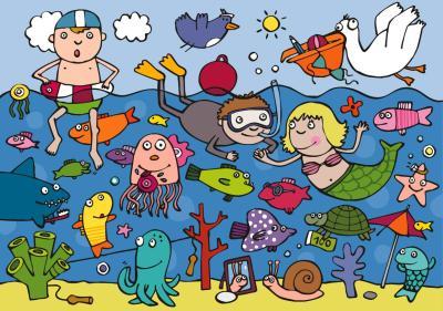 el la playa para niños