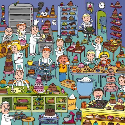 en la pasteleria