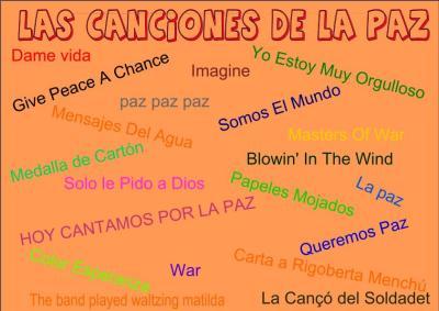 Canciones Para Trabajar El Día De La Paz 2014 Recopilatorio De Orientación Andujar Orientacion Andujar