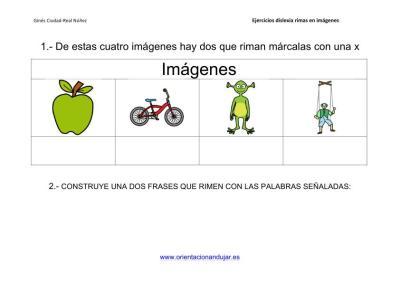 Actividades de rimas para alumnos con dislexia imagenes_2