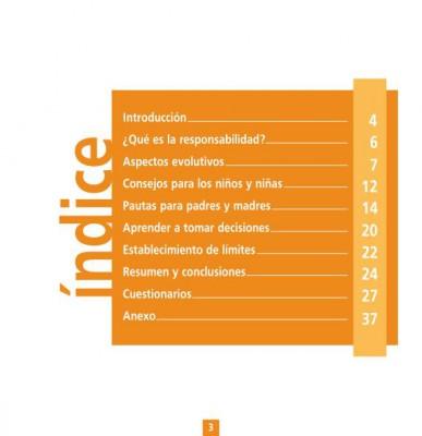 Guía para el desarrollo de conductas responsables en niños de 3 a 12 años indice