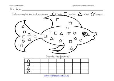 colorea y cuenta las formas geometricas con animales imagenes_7