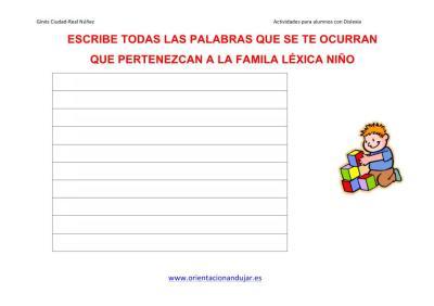 Lectoescritura FAMILIAS LÉXICAS altas capacidades 1 IMAGENES_3