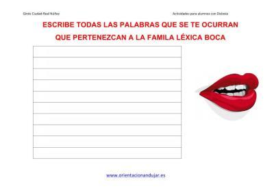Lectoescritura FAMILIAS LÉXICAS altas capacidades 1 IMAGENES_4