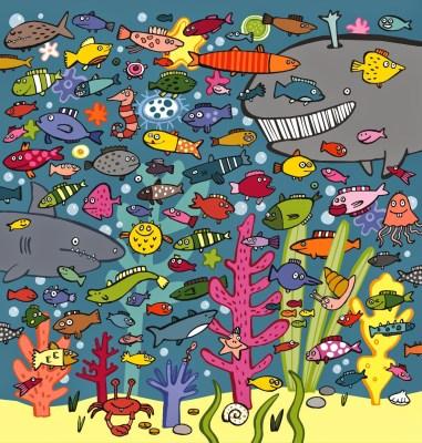 peces en el mar
