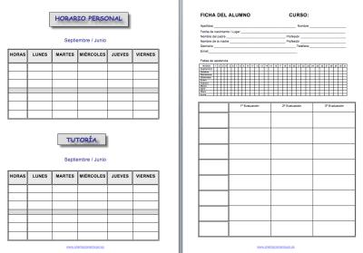 Cuaderno de trabajo, memonotas, registros de evaluación, etc 2014-2015 IMAGEN 1