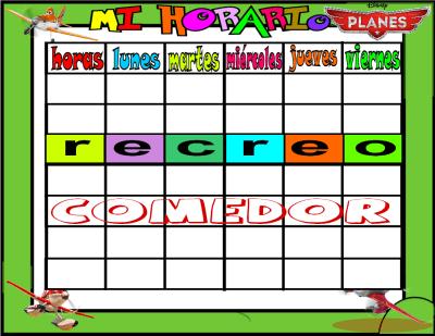 plantilla horario horario planes 6 horas COMEDOR 2
