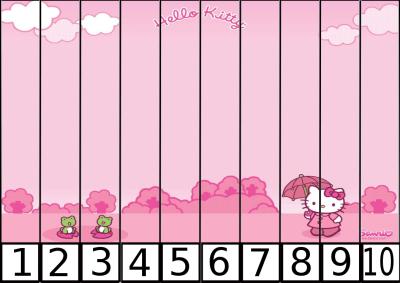 puzzle de numeros 1-10 hello kitty 2