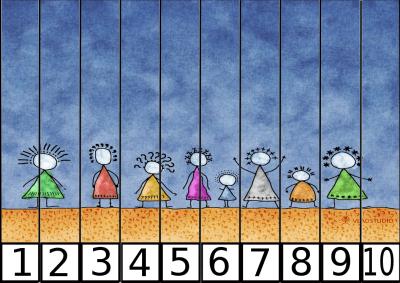 puzzle de numeros 1-10 para los mas peques