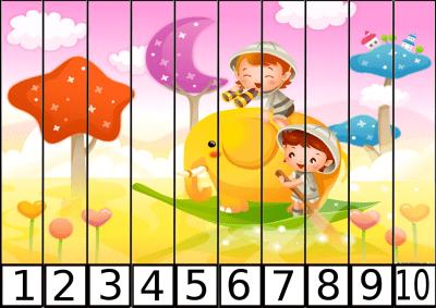 puzzle de numeros 1-10 para los mas peques1