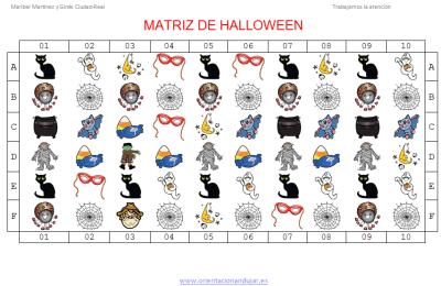 Fichas de halloween matrices divertidas trabajamos la atención