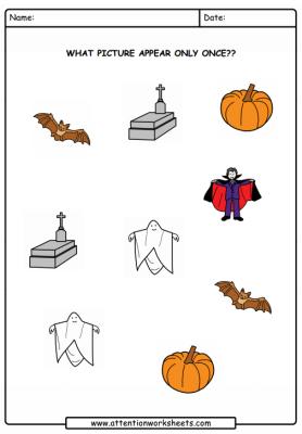 fichas de hallowen en ingles
