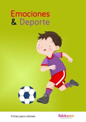 fichas para colorear  deporte y emociones Edukame_Page_01